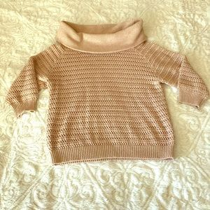 New York & Company Cropped 3/4 Sleeve Sweater